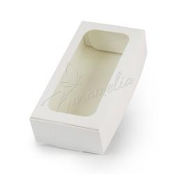 Коробка для макаронс на 12 шт, с окном, 200 * 100 * 50
