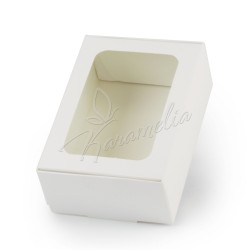 Коробка для макаронс, эклеров, с окном, 140 * 100 * 53