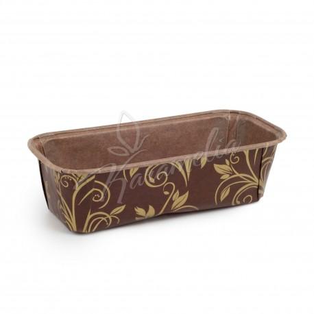 Форма для кексов коричнево-золотая (plumpy), 158 * 55 * 52 мм