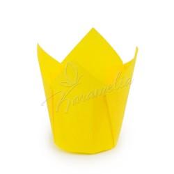 Формочки для маффинов тюльпаны Желтые, 150/50 мм