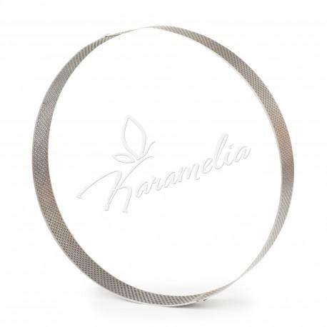 Перфорированное кондитерское кольцо для выпечки тартов d 18 см