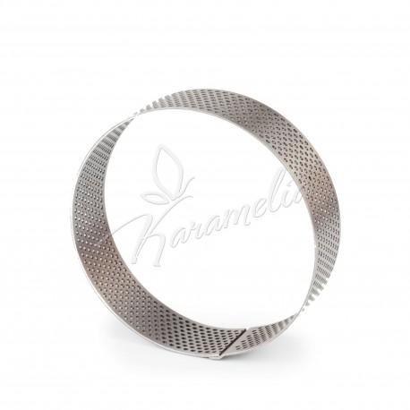 Перфорированное кондитерское кольцо для выпечки тартов d 9 см