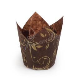 Формочки для маффинов тюльпаны коричнево-Золотые, 150/50 мм