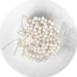 Сахарные шарики белая жемчужина, 5 мм