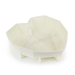 Форма силиконовая для евродесертов Сердце оригами, 1шт