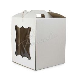 Упаковка для торта 250 * 250 * 300 с окошком