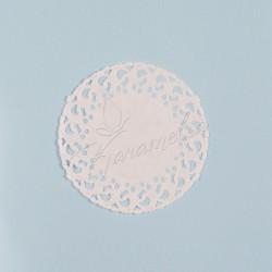 Салфетки ажурные белые, d 10 см