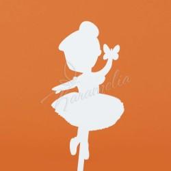 """Топпер акриловый """"Балеринка"""" белый"""