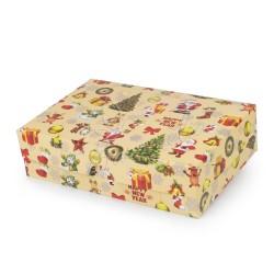 """Коробка для эклеров """"Новогодняя"""" 150 * 225 * 60"""