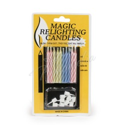 Набор свечей в торт с подставкой Magik