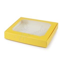 Коробка для пряников с окном желтая 150 * 200 * 30