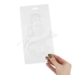 Форма для шоколада пластиковая Набор подарочный №1 8 марта