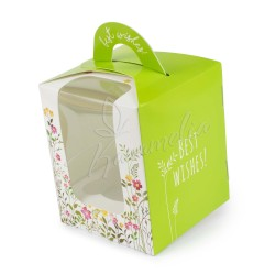 Коробка на 1 кекс, 82 * 82 * 100 зеленая