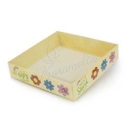 """Коробка для пряников """"Цветы"""" 160 * 160 * 35"""
