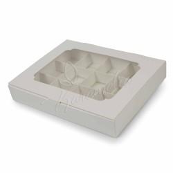 Коробка для 12 конфет белая 200 х 156 х 30 мм