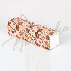 Коробка для макаронс на 7 шт, Cake, 195 * 50 * 50