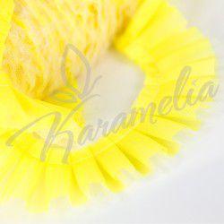 Лента для торта желтая, кружевная h 4,5см, собранная 20 м / упаковка