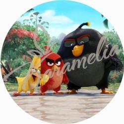 """Вафельная картинка """"Angry Birds"""" №4, d 20 см"""