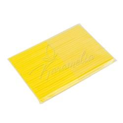 Палочки для кейк-попс желтые, 50 штук в упаковке