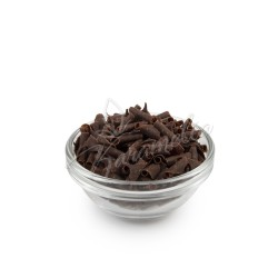Шоколадная посыпка лепестки черный шоколад