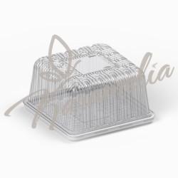 Коробка пластиковая для торта, белая, 20*20 см, h 10см