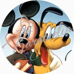 """Вафельна картинка """"Микки Маус"""", d 21 см"""