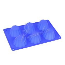 Форма силиконовая на 6 кексов