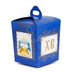 Упаковка для кулича картонная №1 (синяя)