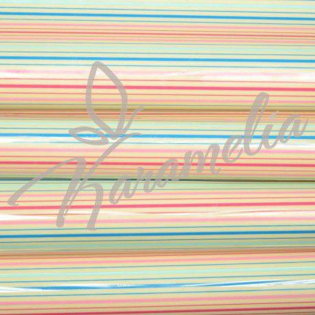 Трансфер для шоколада, цветные полоски